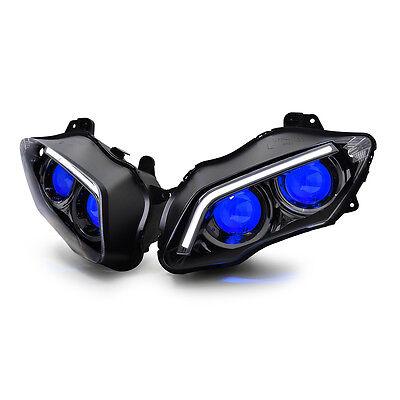 KT LED Headlight for Yamaha YZF R1 2007-2008 V2 Blue