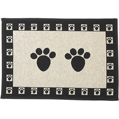 "Pet Rageous Paws Tapestry Mat Feeder, Large/28"" x 18"", Natur"
