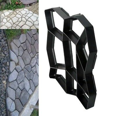 Pavement Concrete Mold Garden Walkway Path Maker Mould Plastic 43Cm Us Stock