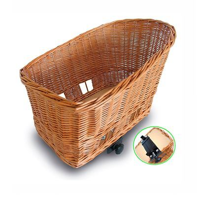 Basil Pasja Basket Elba Wicker Dog basket Rear Mounting W/6-20mm INC Cushion