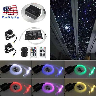 Fiber Optics Decorations (16W RGBW Remote LED Fiber Optic Star Ceiling Light Kit Shooting 150pcs Car)