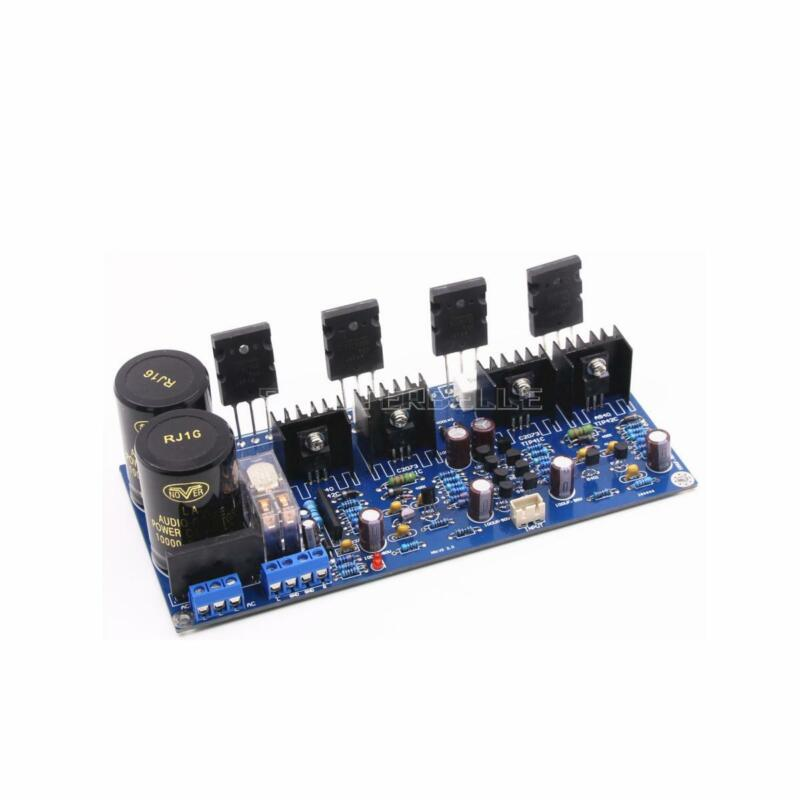 New Assembled HIFI class AB stereo amplifier board A1943+C5200 power AMP