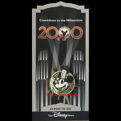 DISNEY STORE COUNTDOWN TO THE MILLENNIUM #45 STEAMBOAT WILLIE MICKEY MOUSE PIN
