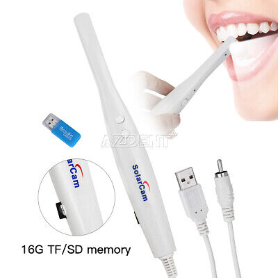Dental Cmos 14 Intraoral Oral Camera 8 Led U801 Tvav 16gb Card Sd 50pc Sleeves