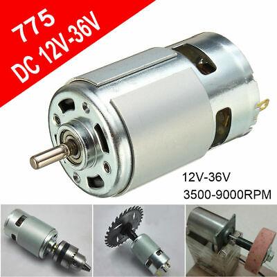 775 DC 12V-36V 3500-9000RPM Motor Ball Bearing Large Torque High Power Low Noise