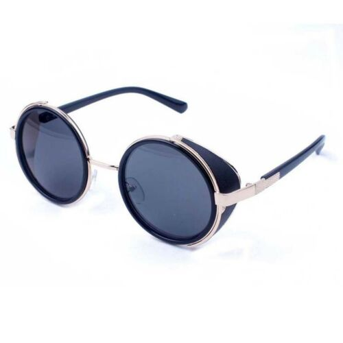 Round Metal Sunglasses Steampunk Men Women Fashion Glasses Brand Designer Retro
