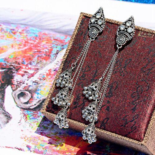Vintage Bohemia Ethnic Drop Tassel Bells Gypsy Boho Jewelry