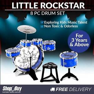 Free Delivery: 8 Pcs Kids Drums Set Junior Jazz Play Toy Childre Homebush Strathfield Area Preview