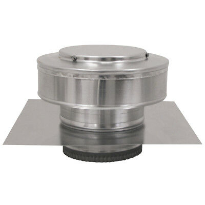 6 In. Diameter Aluminum Round Back Roof Jack Vent Cap For Existing Duct Work