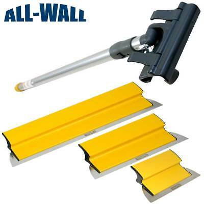 Tapetech Drywall Finish Smoothing Blade Set 10-14-24 Knives Extension Handle