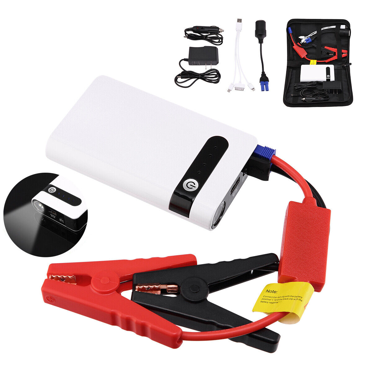 20000mAh Mini Car Jump Starter Engine 12V Battery Charger Power Bank Portable US