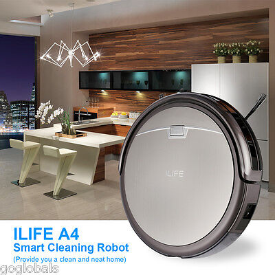 ILIFE A4 Smart Cleaning Robot Floor Cleaner Vacuum Microfiber Automatic Sweeping