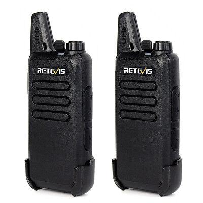 2pcs Retevis RT22 Walkie Talkie 2W UHF 400-470MHz 16 Kanäle CTCSS/ DCS Funkgerät