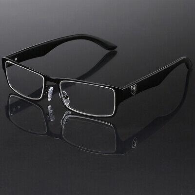 Men Women Non Prescription Clear UV Lens Fashion Eye glasses Black Silver (Non Prescription Fashion Glasses For Women)