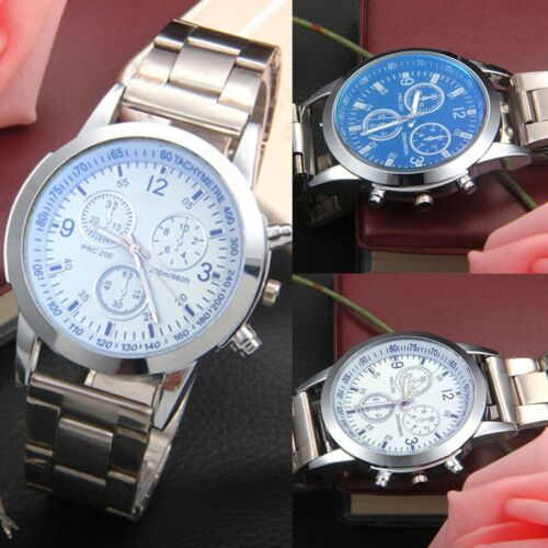 $0.99 - Men's Stainless Steel Quartz Analog Wrist Watch Sport Watches Gifts Luxury