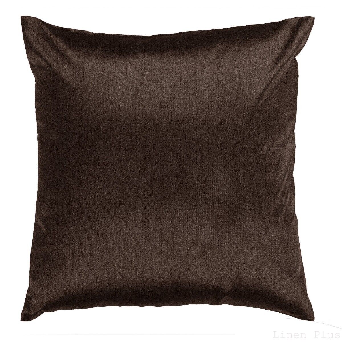 Brown Cover Case Decorative Pillow Zippered Closure 18″ x 18″ 2 Piece Bedding