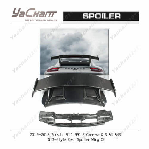 Carbon Wing For 16-18 Porsche 911 991.2 Carrera &s 4 4s Gt3-style Rear Spoiler
