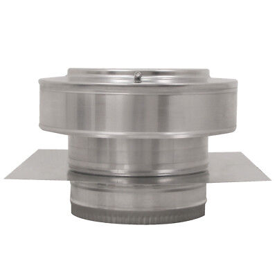 7 In. Diameter Aluminum Round Back Roof Jack Vent Cap For Existing Duct Work
