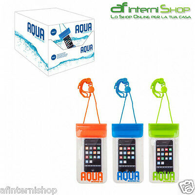 Custodia impermiabile acqua per cellulari iPhone telefoni tripla zip BA-24885