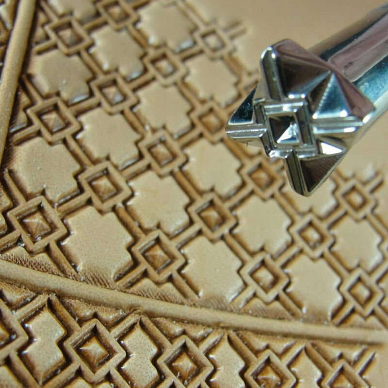 Stainless Steel Barry King - #3 Crosshair Square Geometric Stamp (Leather Tool)