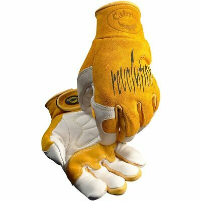 Caiman 1828 Cow Grain Unlined Tigmig Welding Gloves