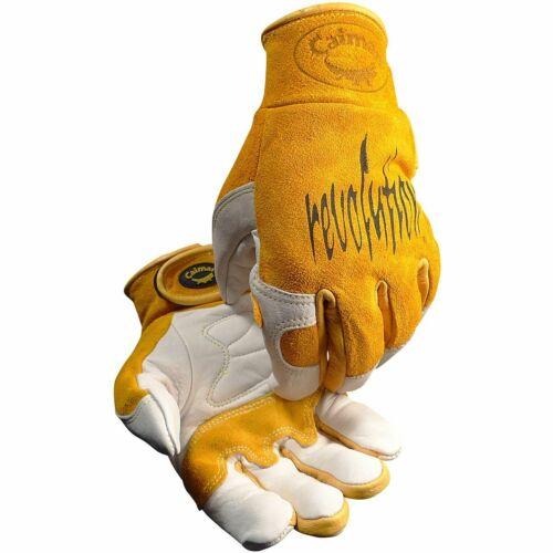 CAIMAN 1828 Cow Grain Unlined TIG/MIG Welding Gloves