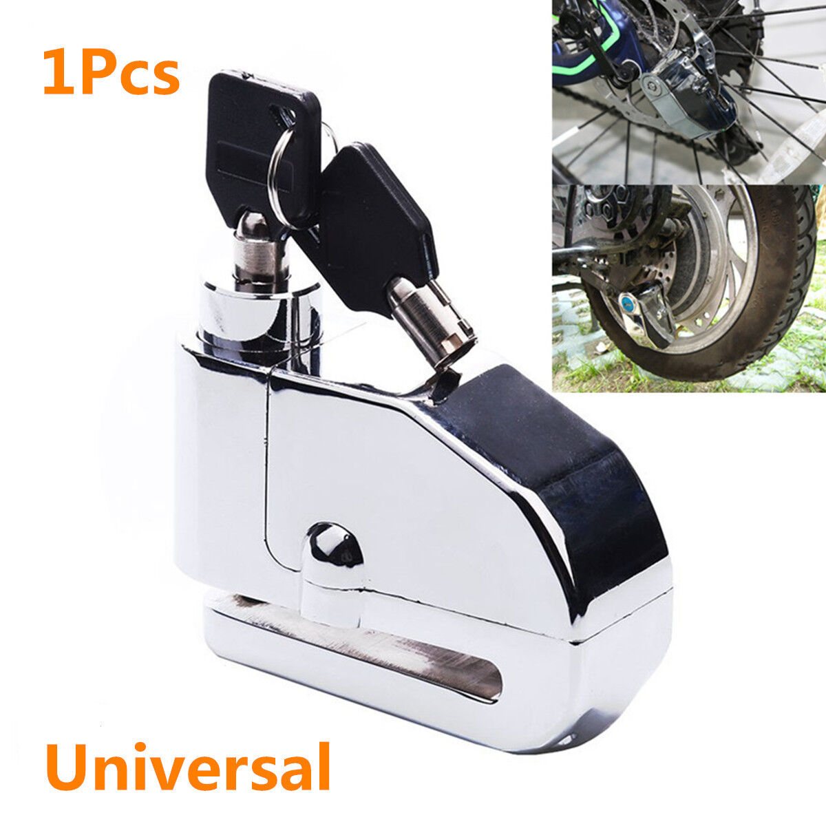 Anti-theft Wheel Disc Brake Lock Security Alarm Motorcycle Bicycle Scooter A1I2