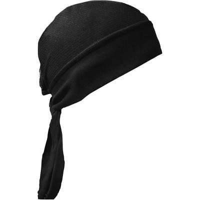Schampa Black Mesh Z-Wrap Stretch Headwrap for Motorcycle Offroad (Schampa Stretch Headwraps)