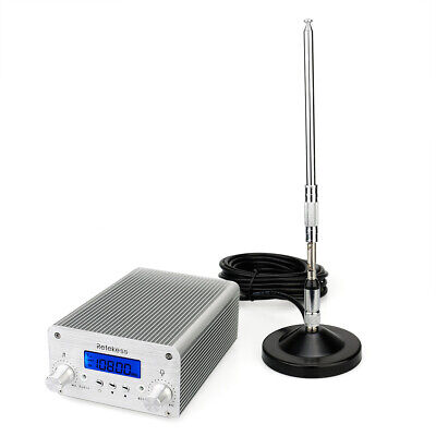 5/15W FM Transmitter Stereo Radio Wireless Broadcast +Antenna+Power US SHIP