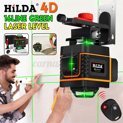 4d 360 16 Lines Green Laser Level Self-leveling Rotary Cross Measure