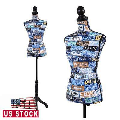 Female Mannequin Torso Dress Clothing Form Display Wtripod Stand Colorful New
