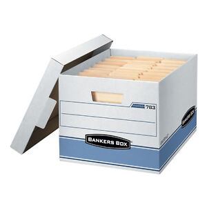 Bankers Box Heavy Duty Document File Storage Boxes - 10 Pack  - 10