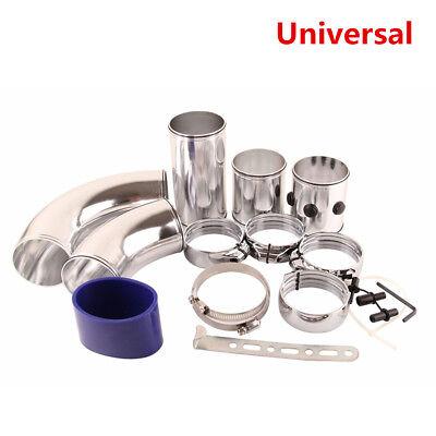 3 Air Filter Turbo Intake Intercooler Piping Cold Hot Pipe Hose Aluminium Set