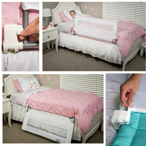 Regalo Swing Down Safety Bed Rail Guard Hide Away For Kids Baby 43 x 20 Inches