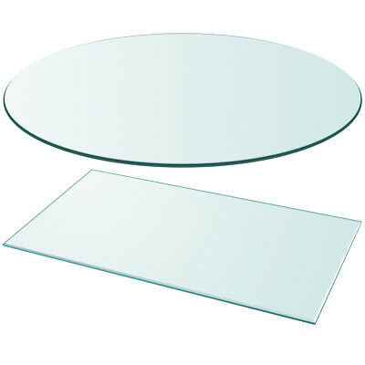 vidaXL Table Top Glass Clear Tempered Replacement Protection