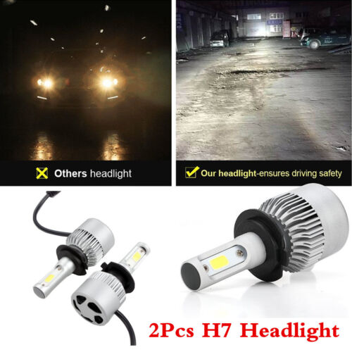 A Pair 75W H7 Cree LED Car Headlight Conversion Kit Driving Lamps Bulbs 6500K