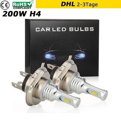 2x H4 LED Scheinwerfer Birnen Kit CSP Fern Abblendlicht Hi Lo Xenon 6000K Weiß