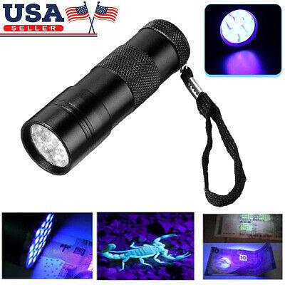 UV Ultra-Violet 12 LED Flashlight Blacklight Light 395 nM Inspection Lamp Torch