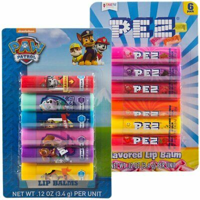 Bestselling Lip Balm for Kids - Pez and Paw Patrol (12 Pack) Candy