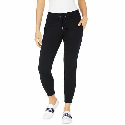 TOMMY HILFIGER SPORT NEW Women's French Terry Drawstring Joggers Pants TEDO