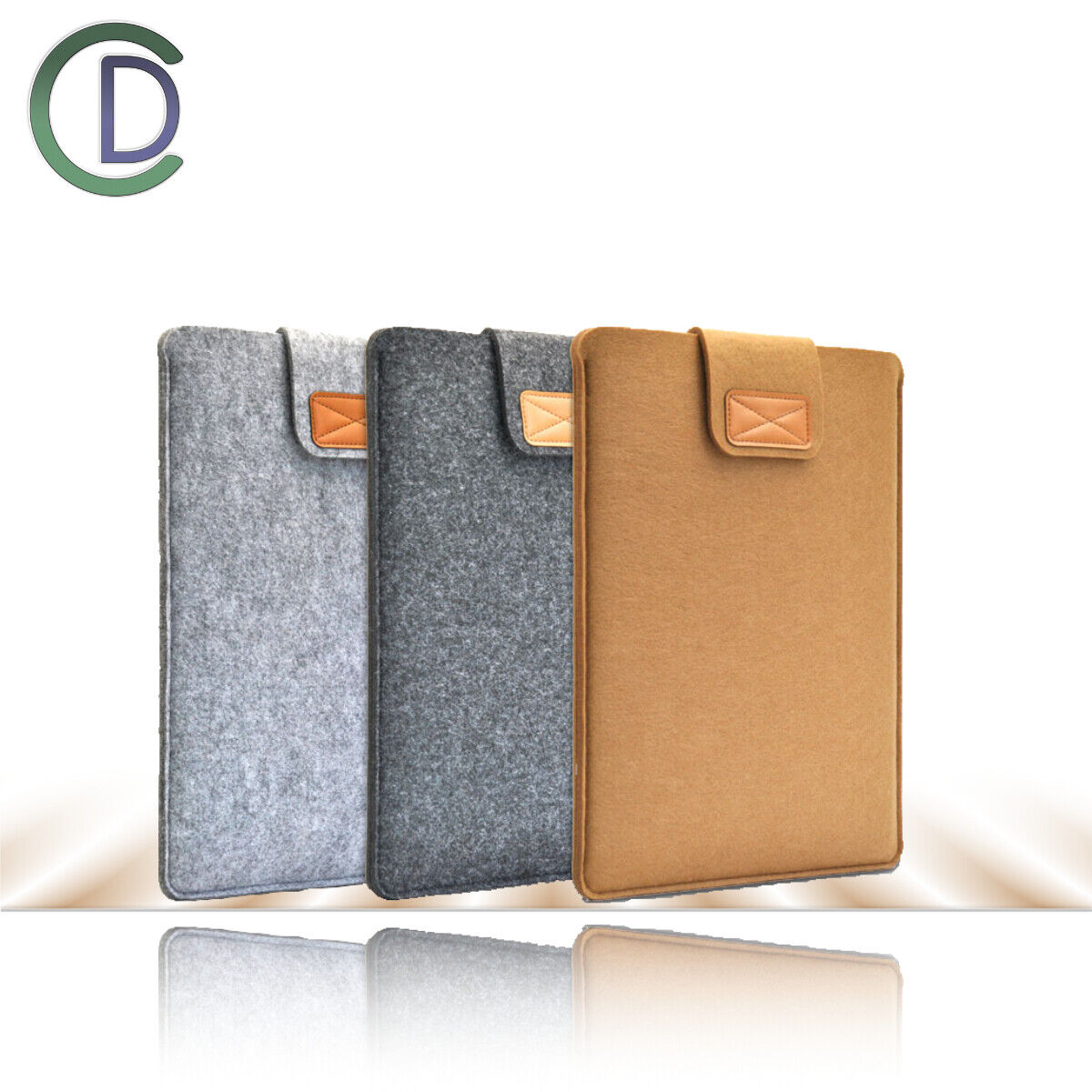 13,3 15 Zoll Laptop-Tasche Avory Filz Sleeve Hülle Kompatibel MacBook Air / Pro