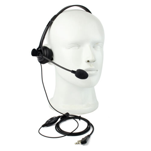 2PIN VOX PTT Mic Headphone Headset for RETEVIS KENWOOD BAOFENG UV5R TYT Radios