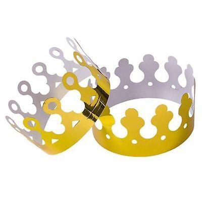 NEW Gold Foil King Crowns Paper (Dozen) RINCO FREE SHIPPING
