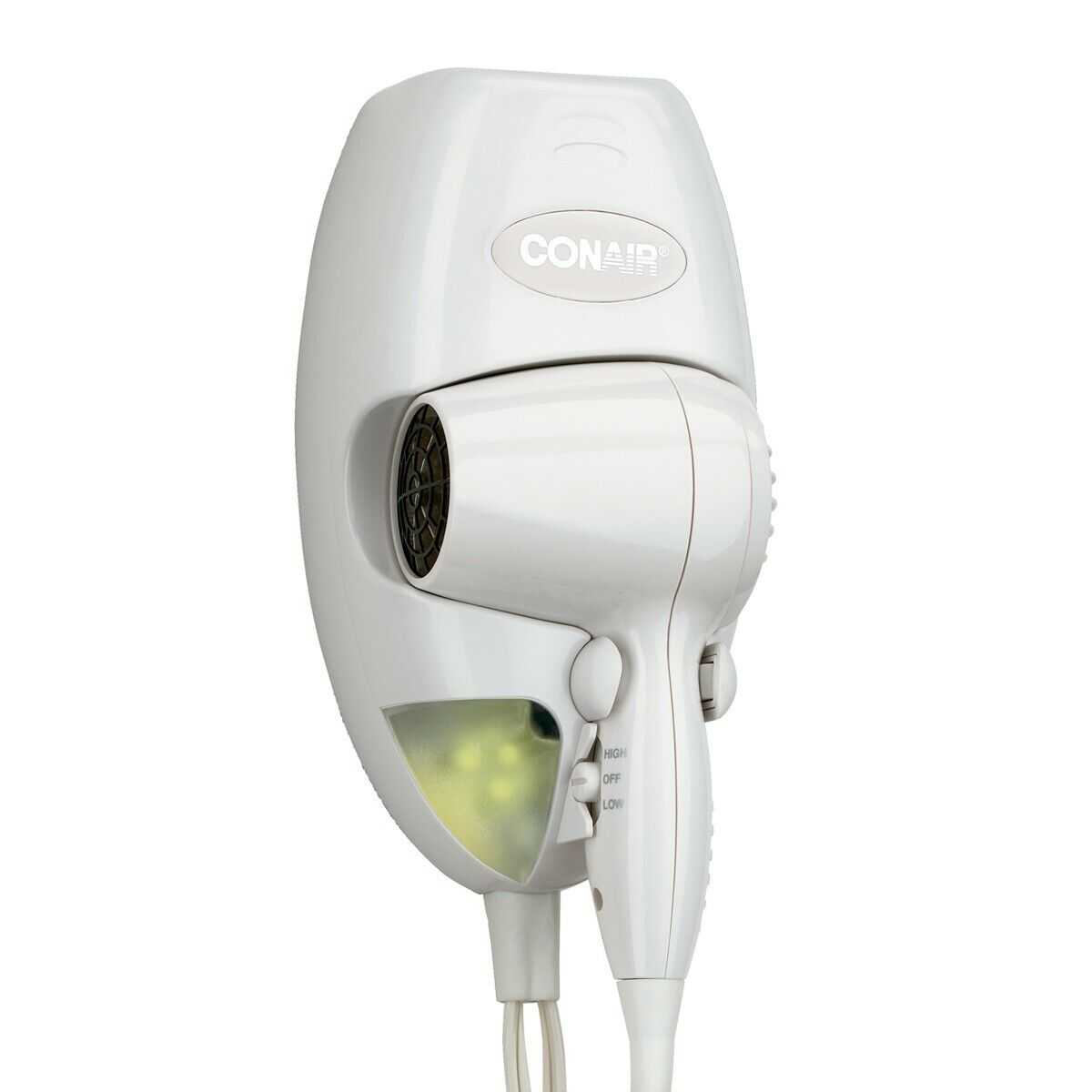 1600W DIRECT WIRE WALL MOUNT HAIR DRYER WHITE