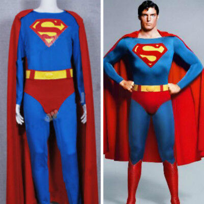 Superman Superhero Male Christopher Reeve Red Jumpsuit Cosplay Costume Halloween - Male Cosplay Costume