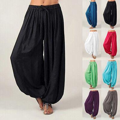 Indian Hippie Aladdin Yoga Ali Pants Gypsy Genie Baba Harem Trouser Baggy -
