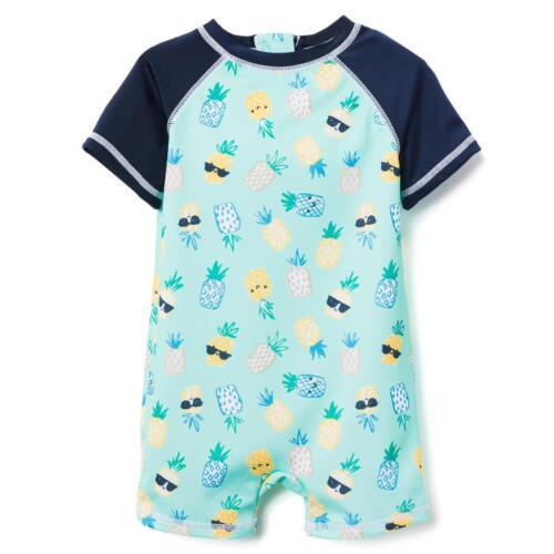 NWT Gymboree Baby Boy Rash Guard Swimsuit Swim Shop 1pc Pineapple UPF 50+
