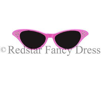 Damen Rosa Kostüm Brille Sandy 50er 1950er Jahre Rock And Roll Kostüm