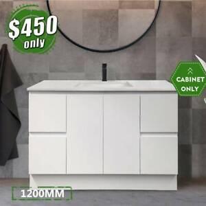 *NEW* Vanity Bathroom 1200mm Cabinet Finger Pull 2pack paint LUCA