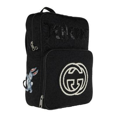 Gucci Backpack Black Tenebre Bunny GG Bag Nylon Vintage 80's 5367241058 31818E